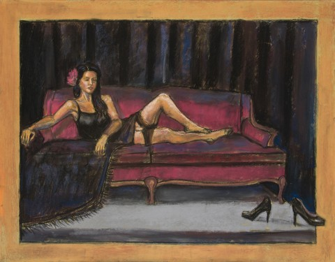 J – Woman On Couch-HeelsOnFloor P4x5